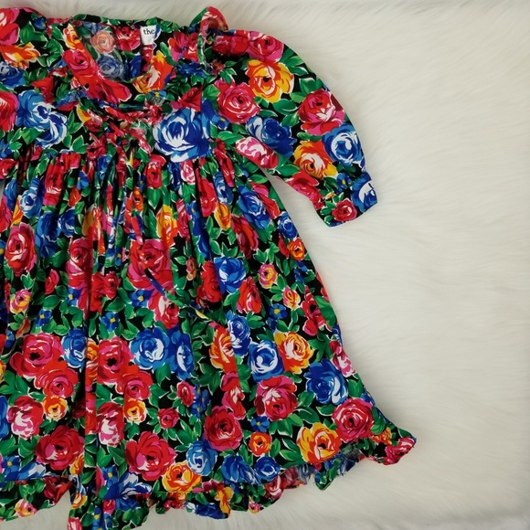 478fd5dc The Eagle's Eye For Children VTG Kids Floral Dress